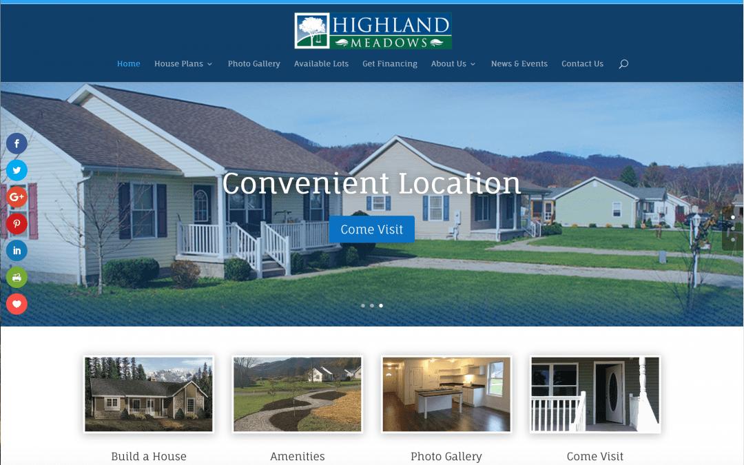 New Work! HighlandMeadowsWV.com